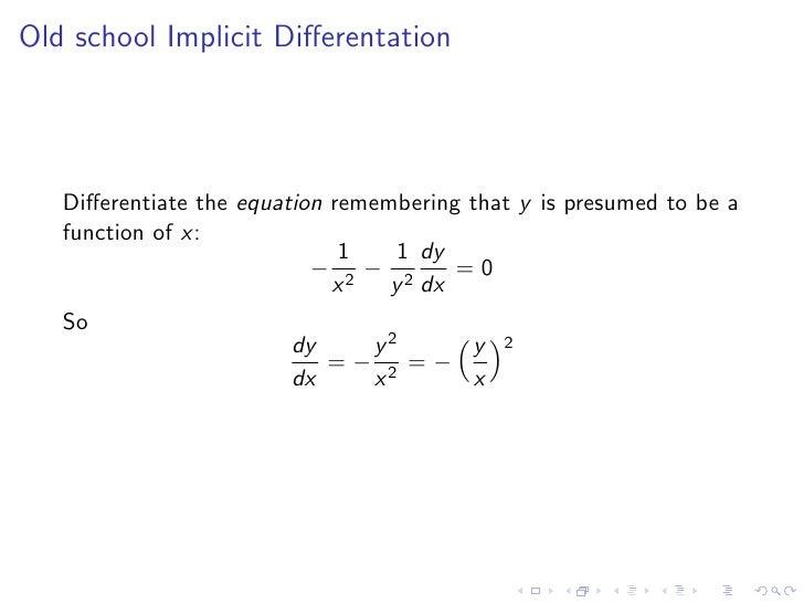 Lesson 24: Implicit Differentiation