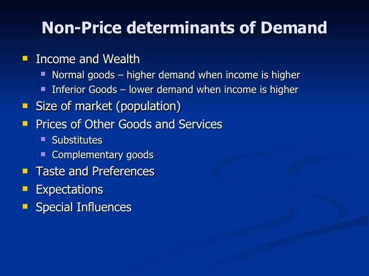 the non price determinants of demand