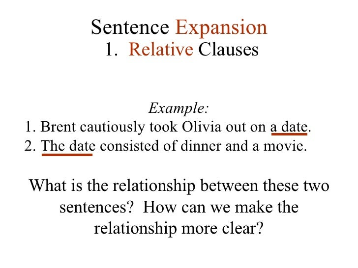 Relative sentence examples