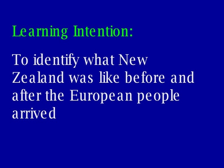 Lesson 3 - What was NZ like before Europeans? Slide 2
