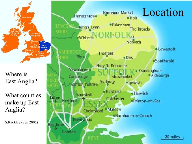East Anglia - Where is cambridge