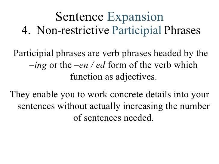 Lesson 4 Sentence Combining – Participial Phrase Worksheet