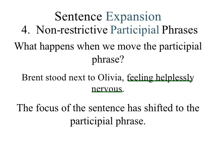 Lesson 4 Sentence Combining – Participial Phrase Worksheet