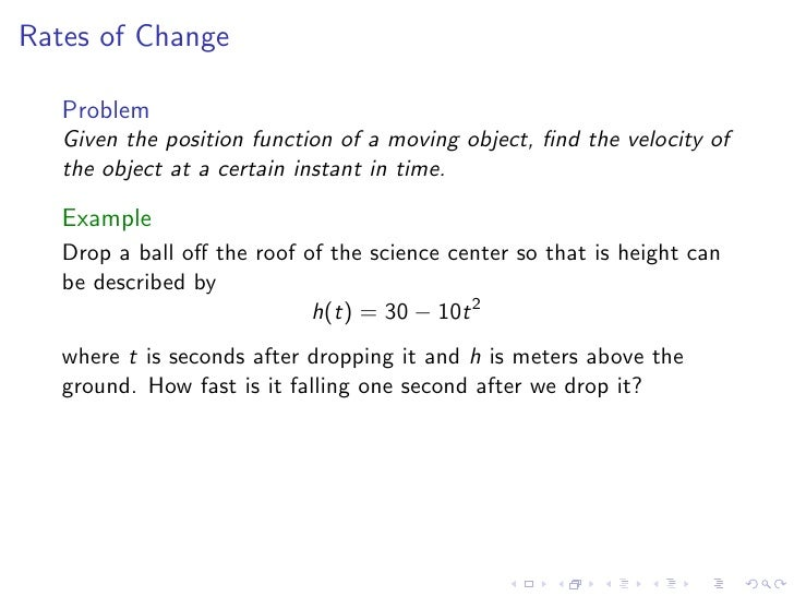 how to find average velocity derivative