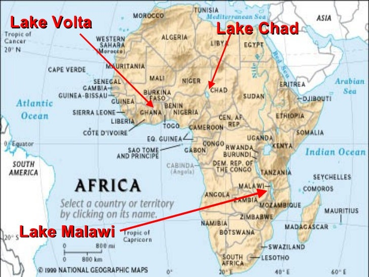 The Physical Features of Sub Saharan Africa