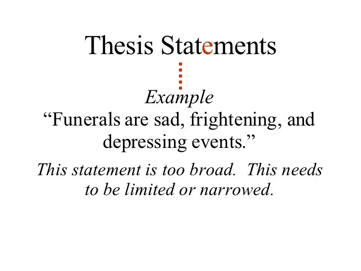 Lesson thesis statement