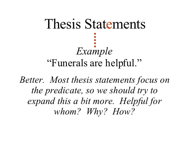 Lesson 5 Thesis Statements