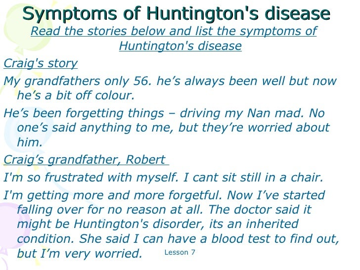 an overview of huntingtons disease causes symptoms diagnosis and treatment Huntington symptoms - what causes huntington's disease  an overview of the huntington's disease's  com/global-huntingtons-disease-therapeutics-2014 .