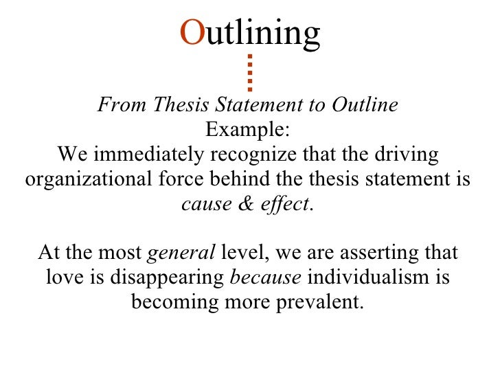 outlines for thesis statements