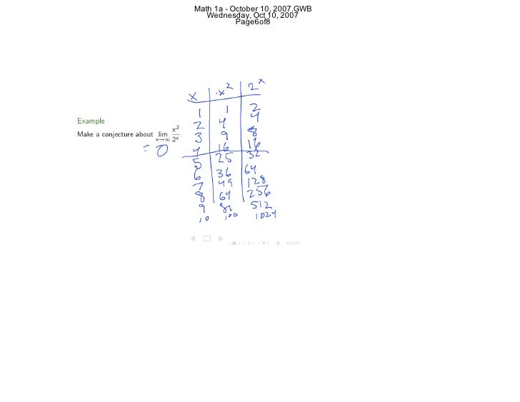 Lesson 7 Limits at Infinity – Limits at Infinity Worksheet