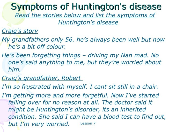 3 Symptoms Of Huntingtons Disease