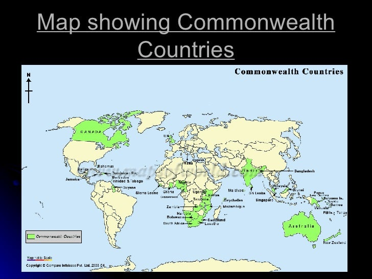Lesson 8 the commonwealth 4 map showing commonwealth countries sciox Gallery
