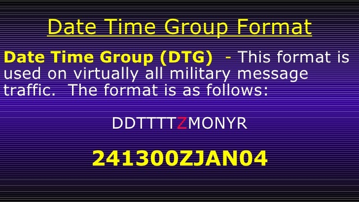 how to write the date in military format
