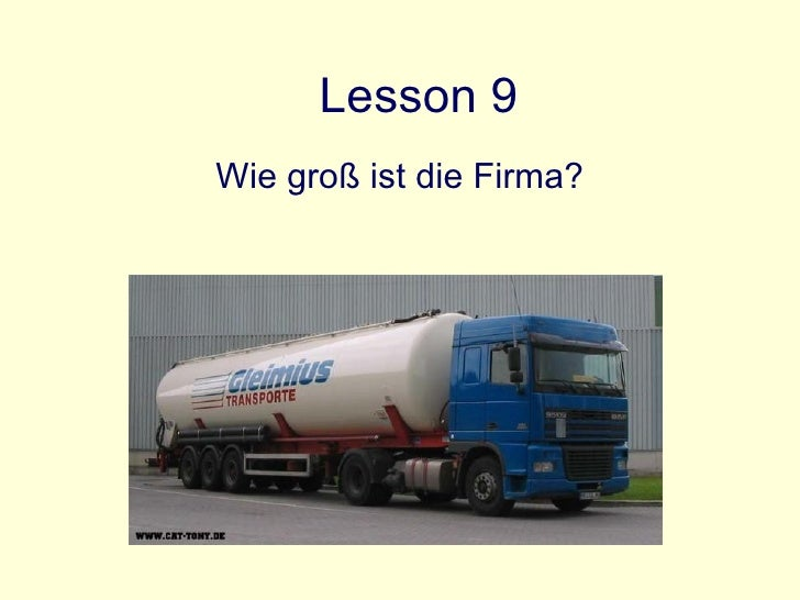Lesson 9 Wie groß ist die Firma?