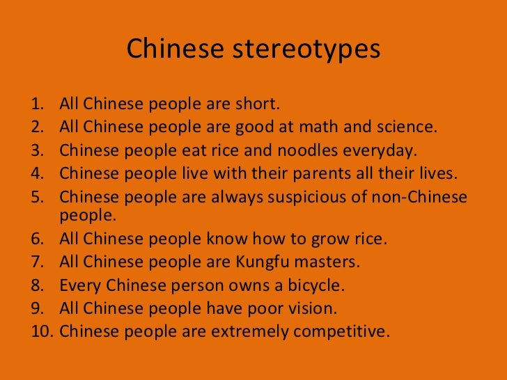 Asian stereotypes list