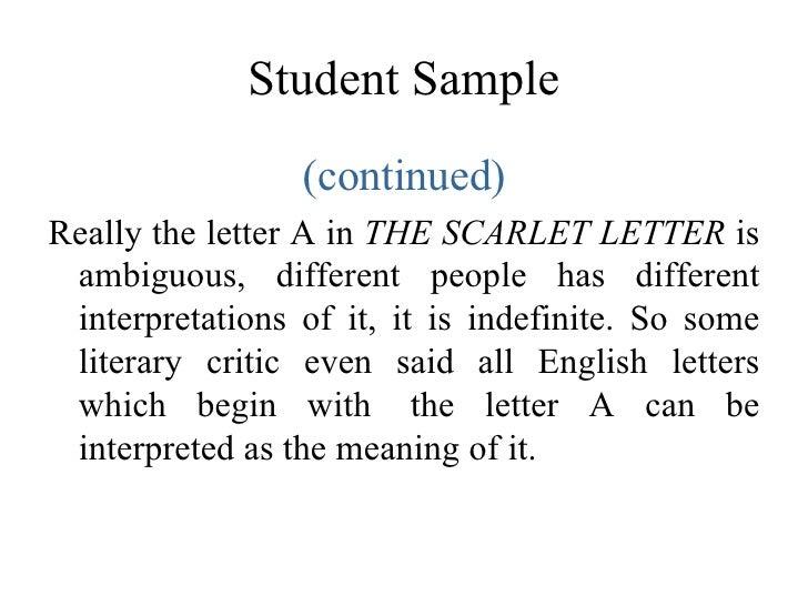 scarlet letter symbols and interpretations essay