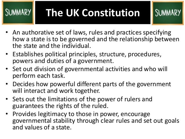 an introduction to the uk government The united kingdom is governed by a constitutional monarchy and parliamentary democracy the head of state is the monarch (currently queen elizabeth ii) while the head of government is the prime minister (currently david cameron, head of the conservative party.