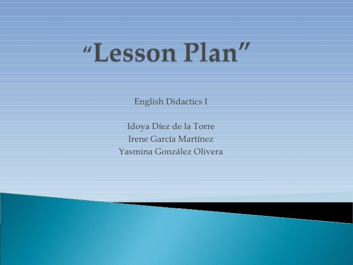 CHRISTMAS LESSON PLAN
