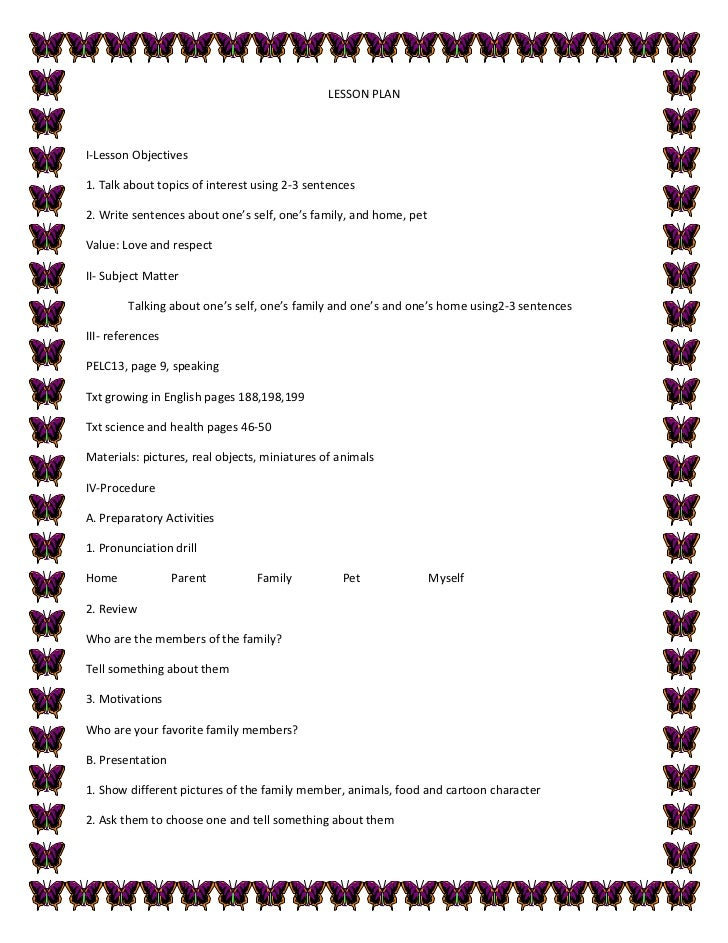 sample detailed lesson plan in english English data,photographs,and worksheets bridgescom elementary school sample lesson plans 8 individual activity leading to presentation learning objectives.
