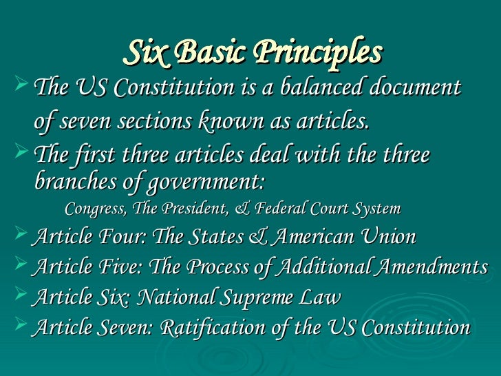 an introduction to the us constitution and the article five Introduction the united states constitution is unusually difficult to amend as  spelled out in article v, the constitution can be amended in one of two basic  ways.