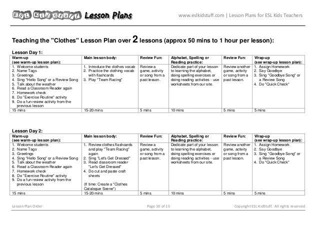Lesson plan-order