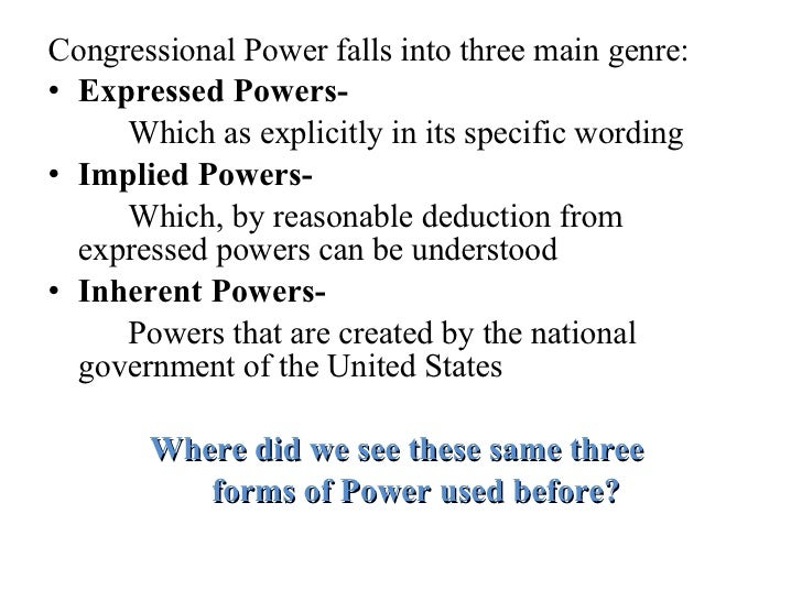 formal and informal powers of congress Formal power, perceived power, and conditional party government with only formal powers and estimating nonetheless exert influence through informal powers.
