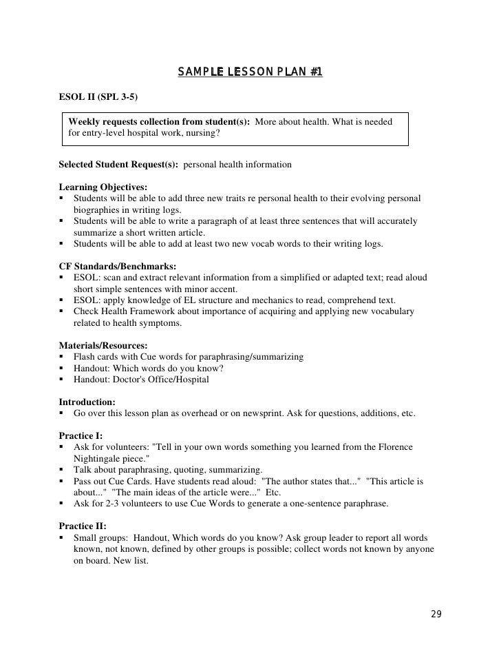 Lesson planning guide 2008 for Nursing lesson plan template