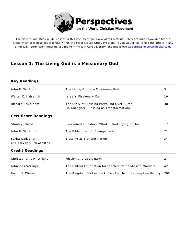 The articles and study guide lessons in this document are ...