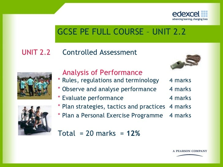 gcse pe coursework training programme Analysing fitness requirements of sport for a fitness training programme to be  sport specific, it is necessary to assess which fitness types are most important for .