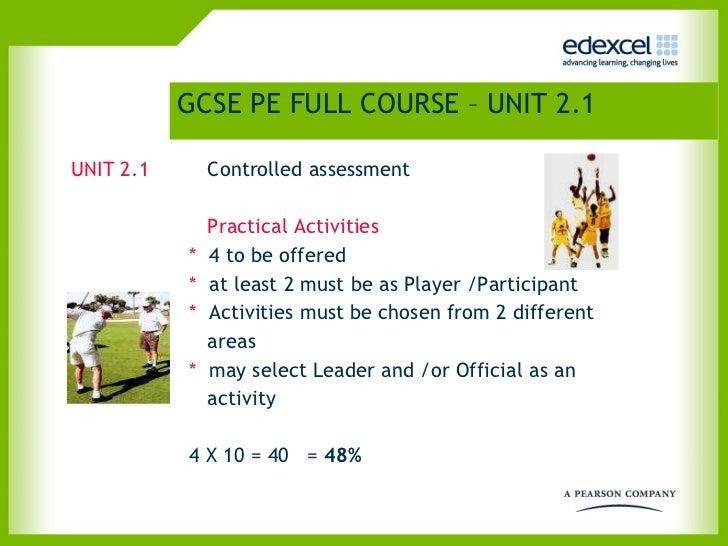 GCSE PE FULL COURSE – UNIT 2.1   <ul><li>UNIT 2.1   Controlled assessment    </li></ul><ul><li>              </li></ul><ul...