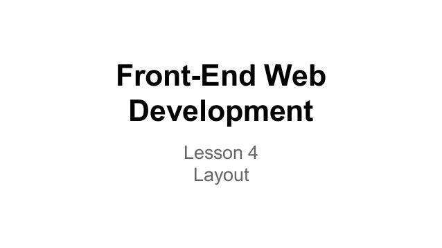 Front-End Web Development Lesson 4 Layout