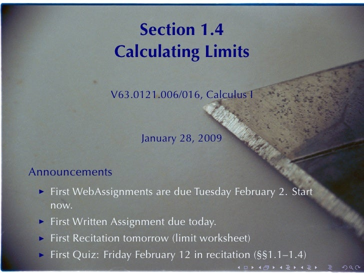 Lesson 4 Calculating Limits