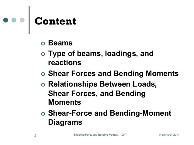 Lesson 04, shearing force and bending moment 01 Slide 2