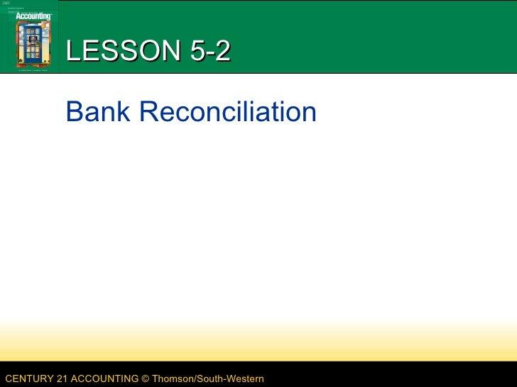 LESSON 5-2 Bank Reconciliation