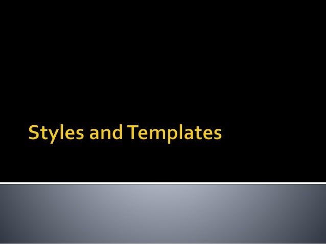 Lesson 06 Styles and Templates in WPF