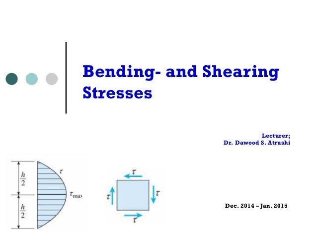Lecturer; Dr. Dawood S. Atrushi Dec. 2014 – Jan. 2015 Bending- and Shearing Stresses - y1 2 ) of the beam