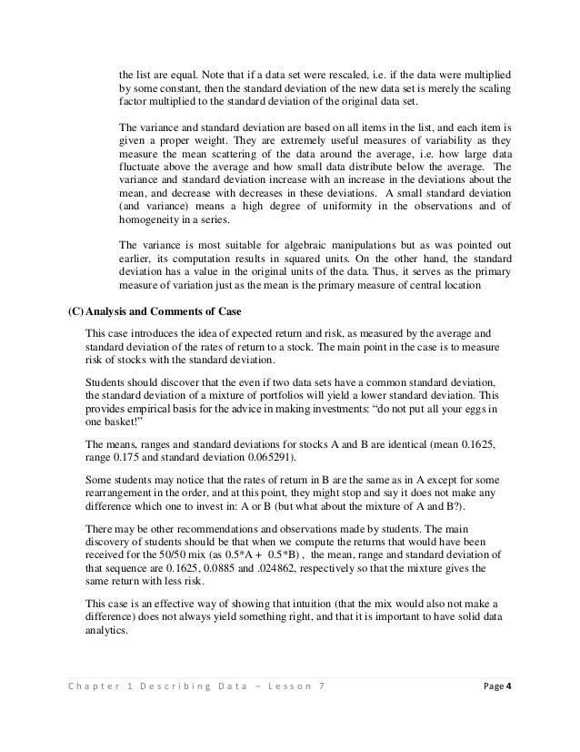 Lesson 1 07 measures of variation – Measures of Variation Worksheet