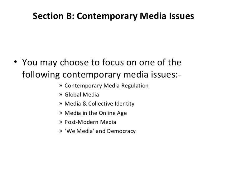 Lesson 1 Contemporary Media Regulations