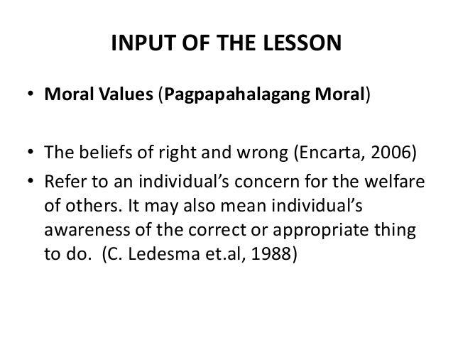 ano ang moral values program