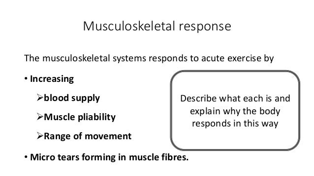 Musculoskeletal, Energy, Cardiovascular and Respiratory Systems