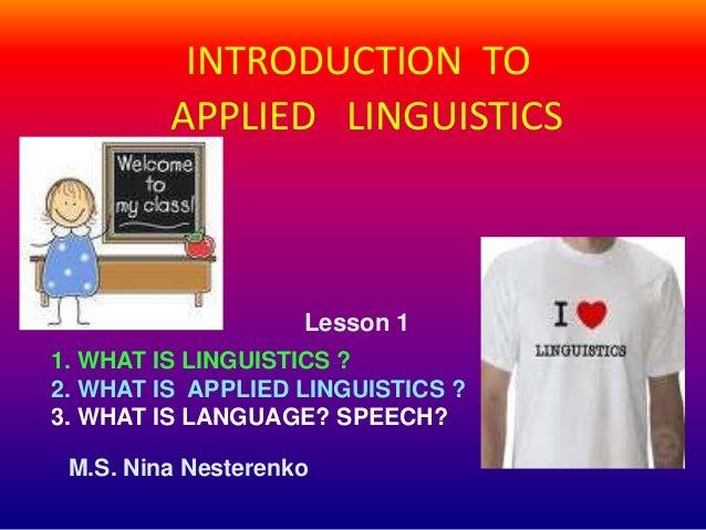 what is applied linguistics pdf