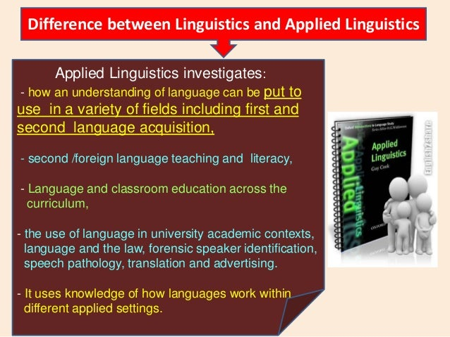 applied linguistics 1 Applied linguistics is an interdisciplinary field of linguistics which identifies,  investigates, and  [1] new zealand the applied linguistics association of new  zealand (alanz) produces the journal new zealand studies in applied  linguistics.