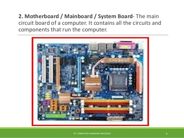 understanding the computer system rh slideshare net what is the main circuit board inside a computer what is the main circuit board of a computer called the board that all other parts connect to