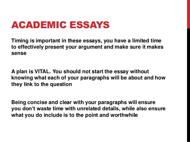 Lesson 1 academic essay writing – Academic Essay