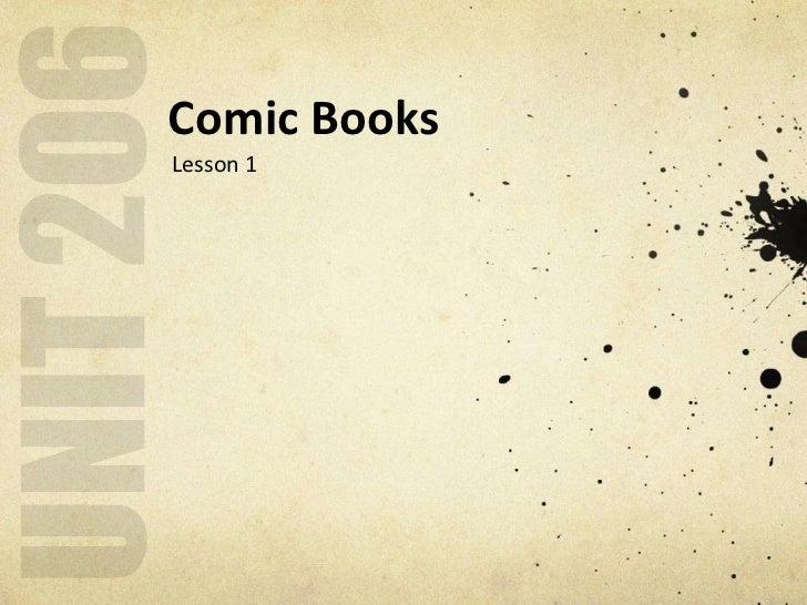 Comic BooksLesson 1