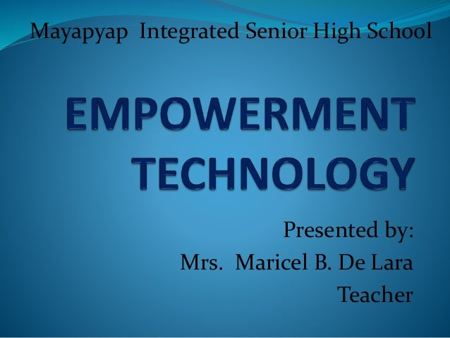 Presented by: Mrs. Maricel B. De Lara Teacher Mayapyap Integrated Senior High School