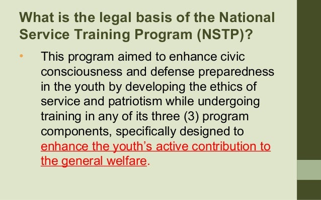 "republic act no 9163 nstp loopholes (republic act 9163) ""an act  this act shall be known as the national  service training program (nstp) act of 2001 section  ""reserve officer  training corps"" (rotc) – is program institutionalized under section 38 and 39 of  ra no."
