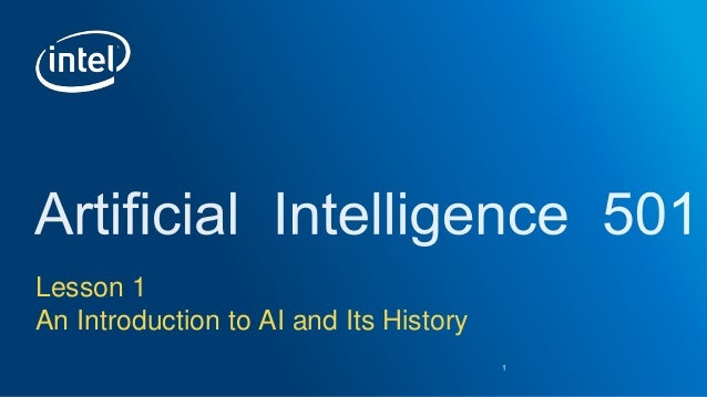 Lesson 1 An Introduction to AI and Its History 1