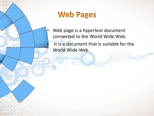 • Static is Web 1.0 • Dynamic is Web 2.0, 3.0 • Static web page is known as flat page or stationary page in the sense that...