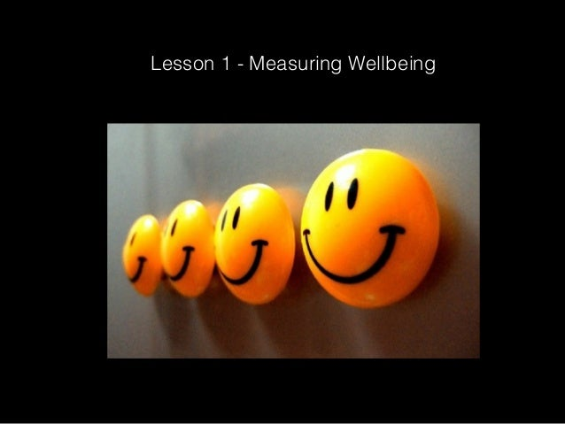 Lesson 1 - Measuring Wellbeing